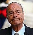 Chirac grimace